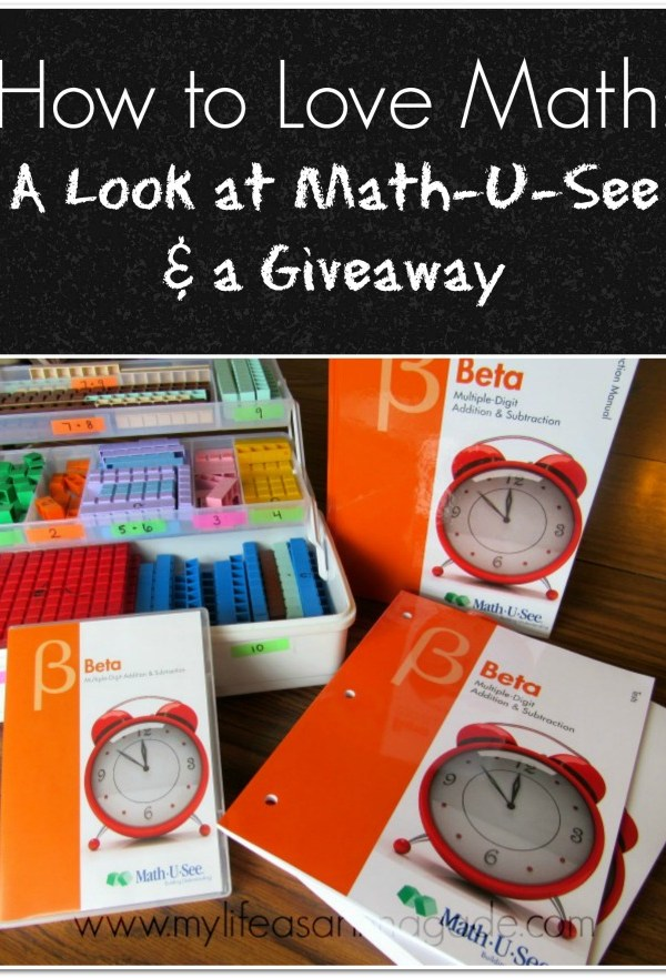 How to Love Math: A Look at Math-U-See & a Giveaway