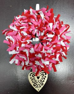 Valentine's Day Fabric Door Wreath
