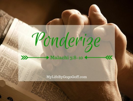 """Keep the Law of Tithing! Ponderize Preach My Gospel! With Free Printables to help!You might ask, """"Why should I ponderize Preach My Gospel?"""" The answer is simple..."""