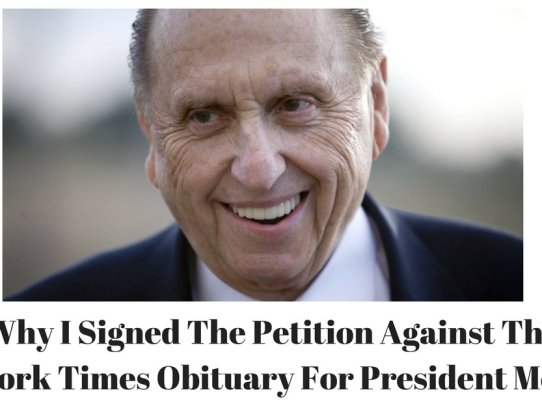 Irregardless of your religious views, the New York Times obituary for Thomas S. Monson should outrage every America. It is a biased hack-job.