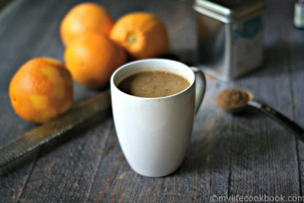 This chocolate orange protein matcha drink is a great way to start your morning. Added protein and matcha green tea will give you a boost of energy and it's only 3.7g net carbs so it's low carb too.