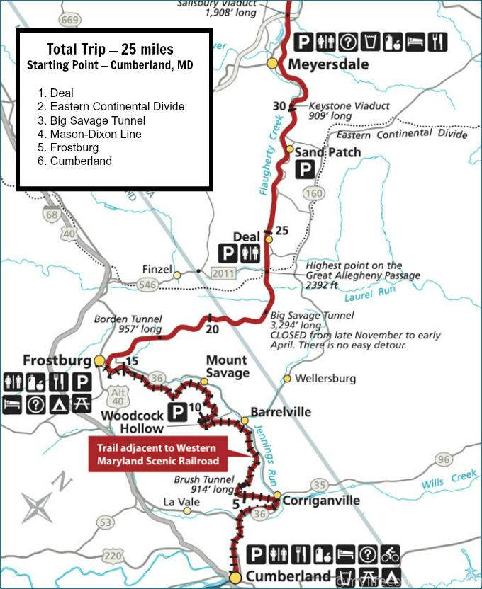 ohiopyle trail map with Day Tripping With Rick Cumberland Md The Great Allegheny Passage on 7006055 furthermore Mountain Biking Routes In Ohiopyle additionally Kentuck Trail moreover Laurel Ridge State Park further File Heritage Railroad Trail County Park Howard Tunnel.