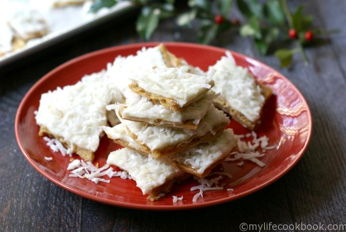 Gifts from your Kitchen - Coconut Toffee Candy - My Life Cookbook