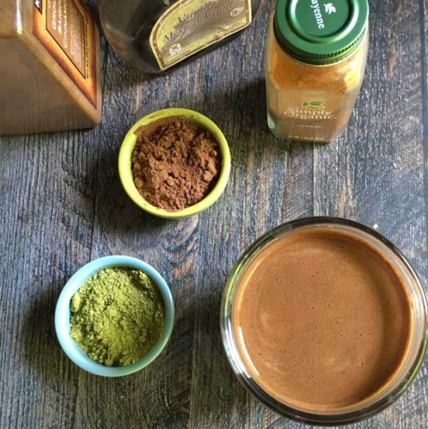 This Mexican chocolate matcha drink is a healthy and delicious way to start your day. Guess what's in it?
