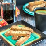 These gluten free, maple walnut biscotti are the perfect low carb treat. Enjoy with a nice cup of coffee for an afternoon break or even as dessert!