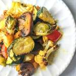 These red palm oil roasted winter vegetables are a healthy and tasty side dish you can easy whip up any day of the week. The red palm oil is a superfood and coupled with seasonly vegetables makes for a healthy dish.