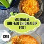 microwave keto buffalo chicken dip for 1