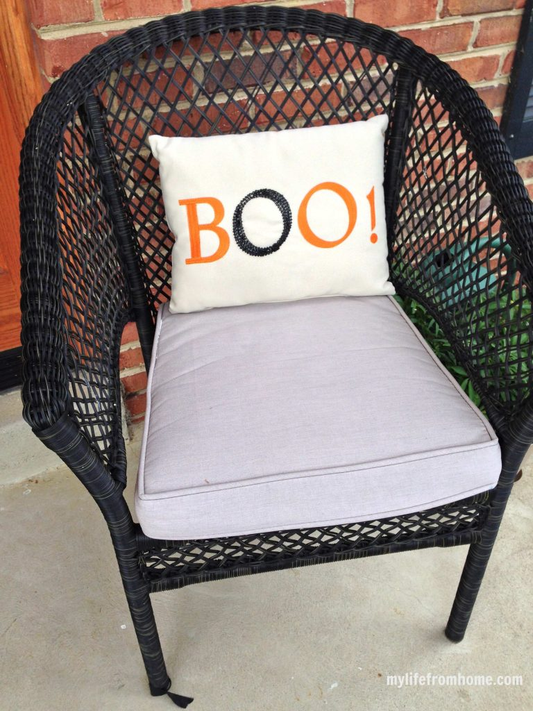 Boo! outdoor fabric pillow from Pier 1