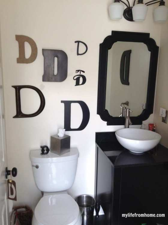 Letter D wall