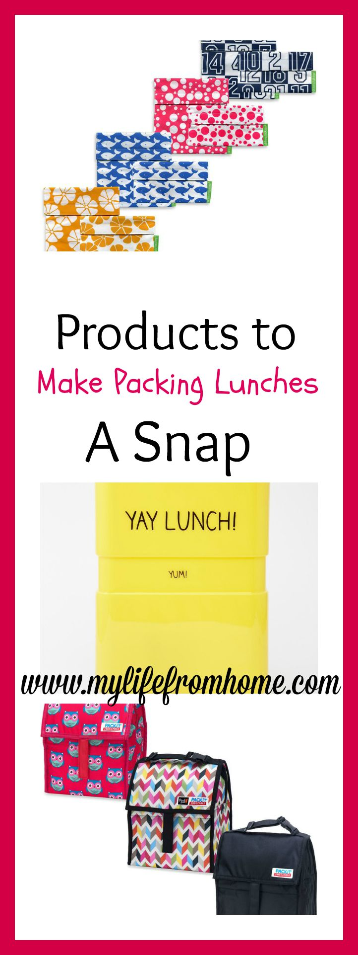 Products to Make Packing Lunches A Snap by www.mylifefromhome.com