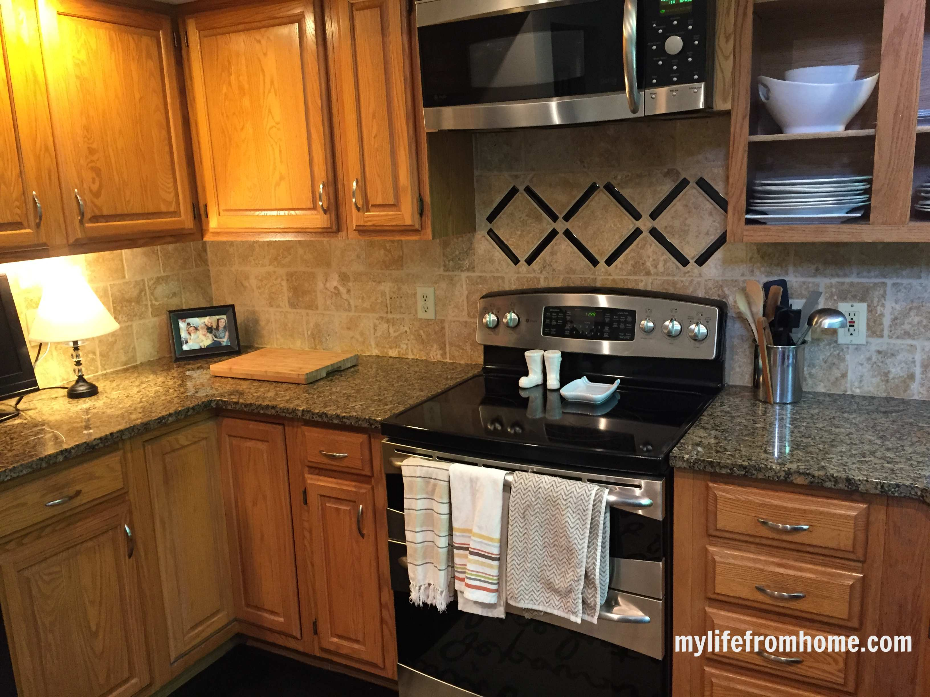 kitchen reveal diy painted cabinets my life from home. Black Bedroom Furniture Sets. Home Design Ideas