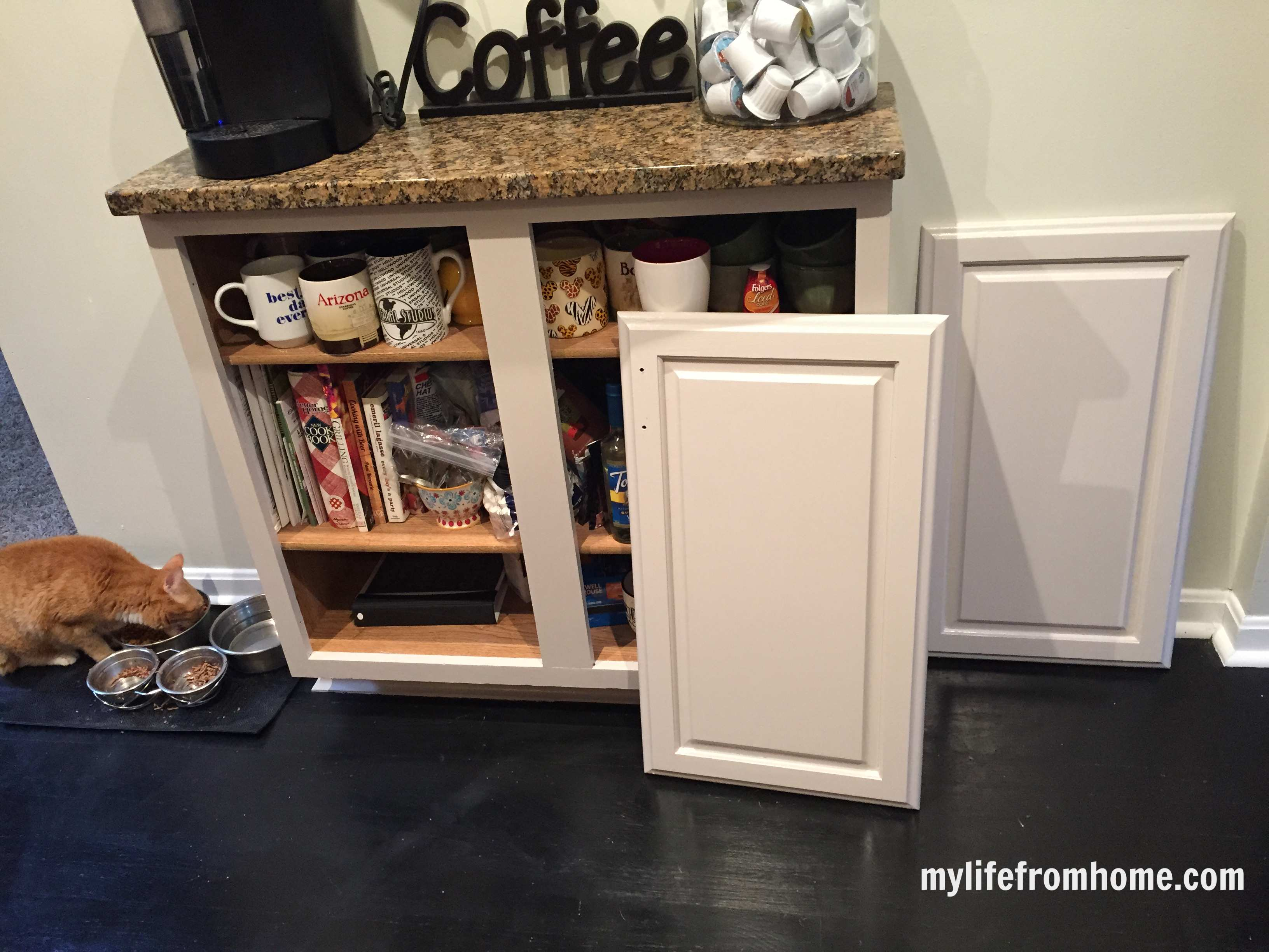 Painted cabinets in the kitchen, step by step instructions | painted cabinets | kitchen | painting cabinets | paint | kitchen transformation |