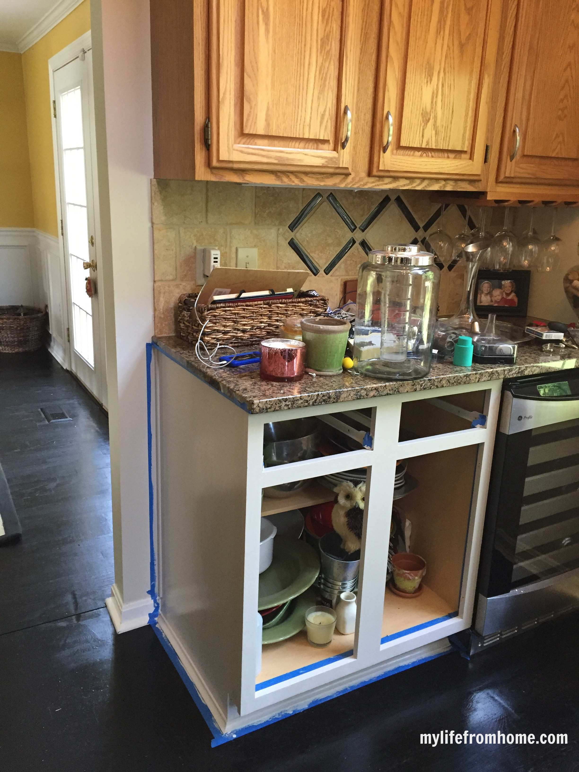 Kitchen Reveal DIY Painted Cabinets