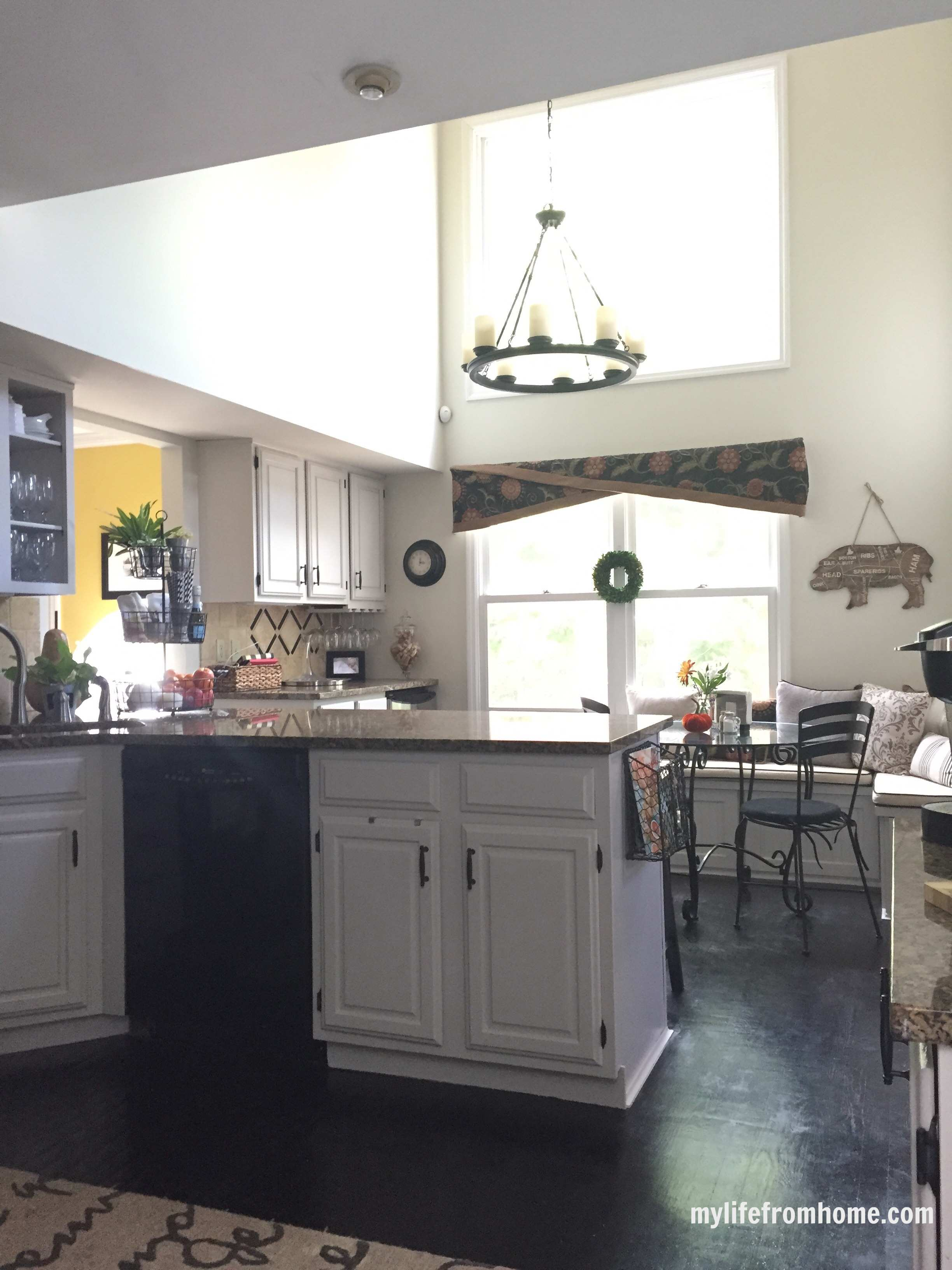 Kitchen Reveal; DIY Painted Cabinets | My Life From Home