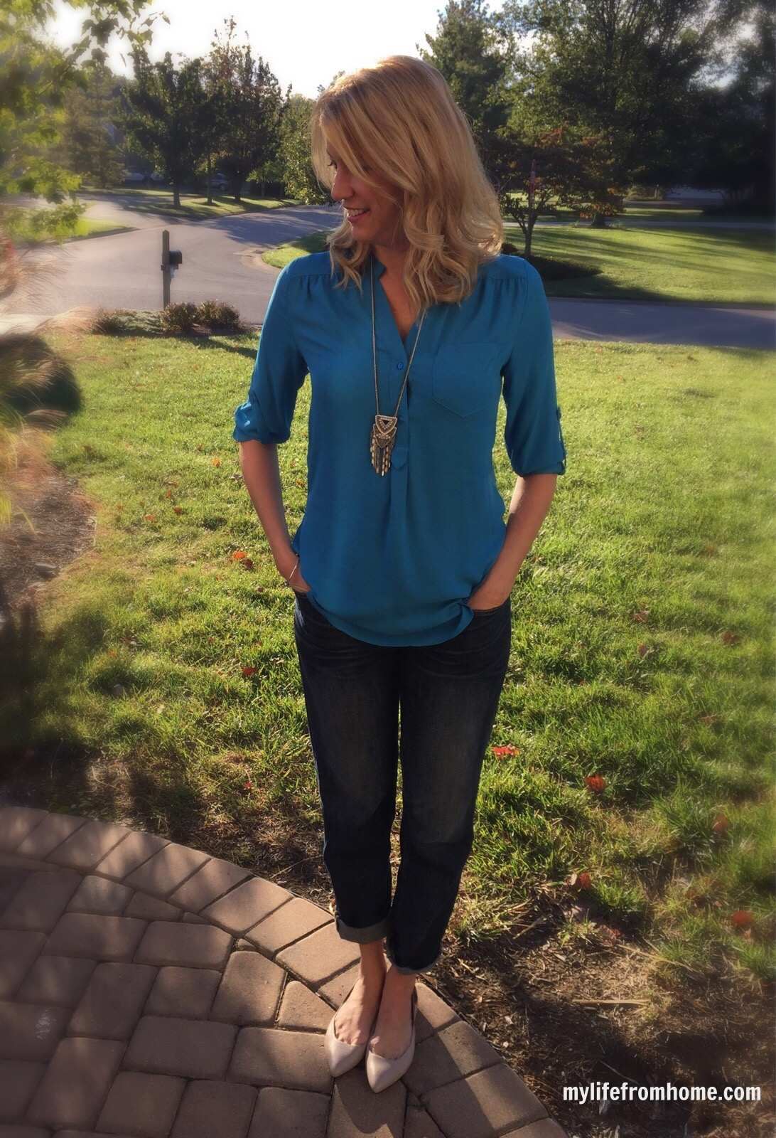 Stitch Fix Blouse Casual Style by www.mylifefromhome.com