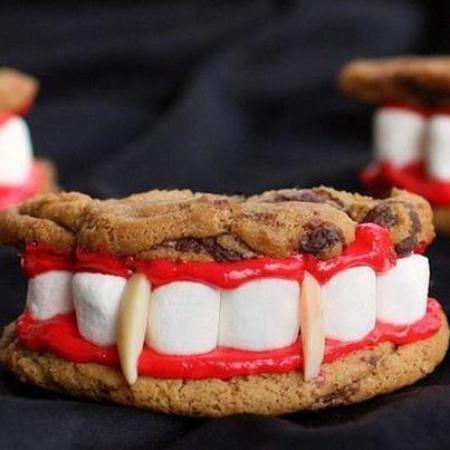 Vampire Fang Teeth Cookies