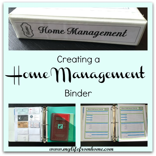 Creating a Home Management Binder by www.mylifefromhome.com