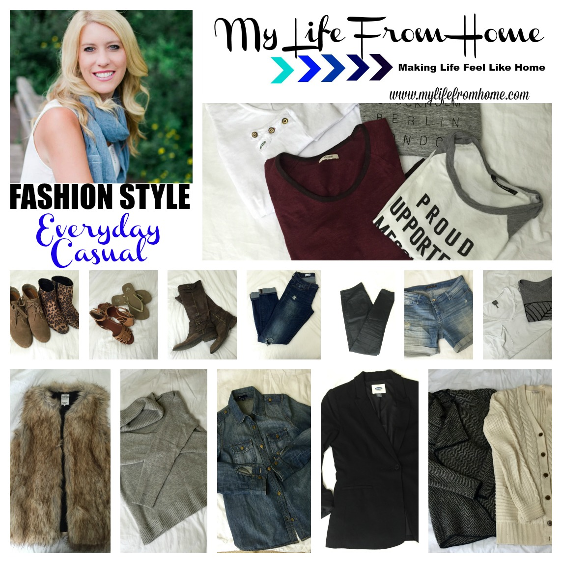 Fashion Style Everyday Casual by www.mylifefromhome.com