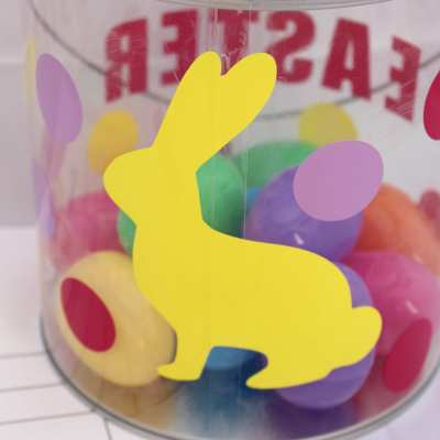 Silhouette Challenge: Easter Egg Hunt Pail & Printable