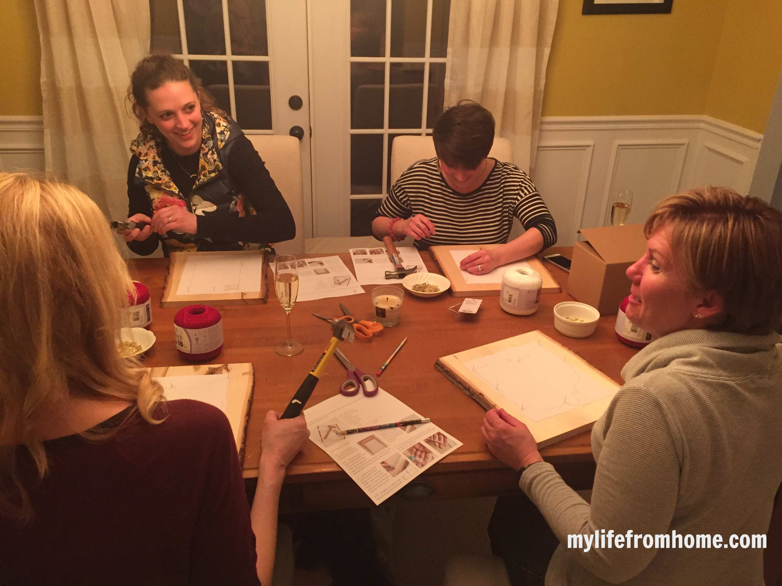 An In-home craft party with Gild Collective by www.whitecottagehomeandliving.com