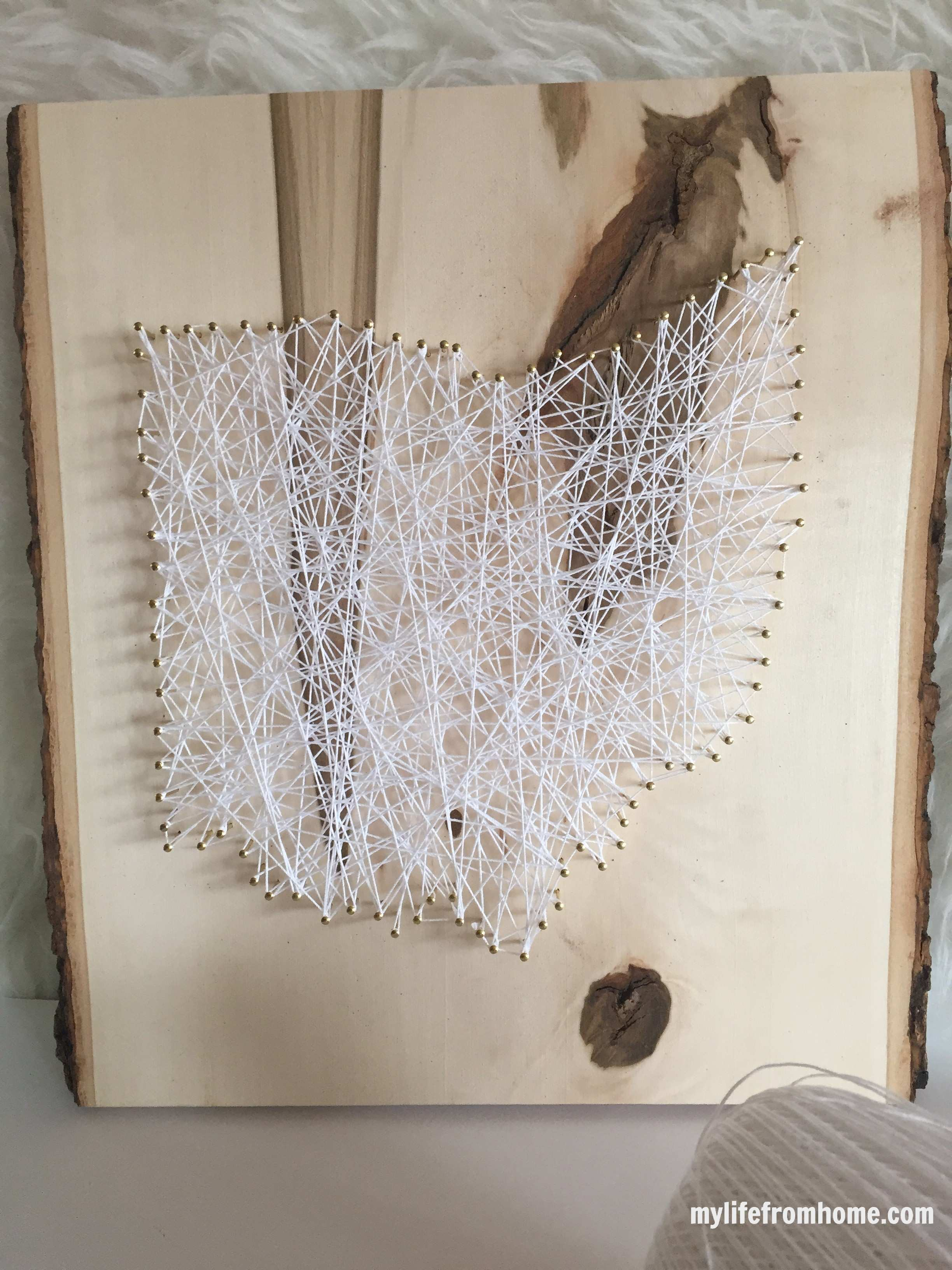 String Art with Gild Collective by www.whitecottagehomeandliving.com