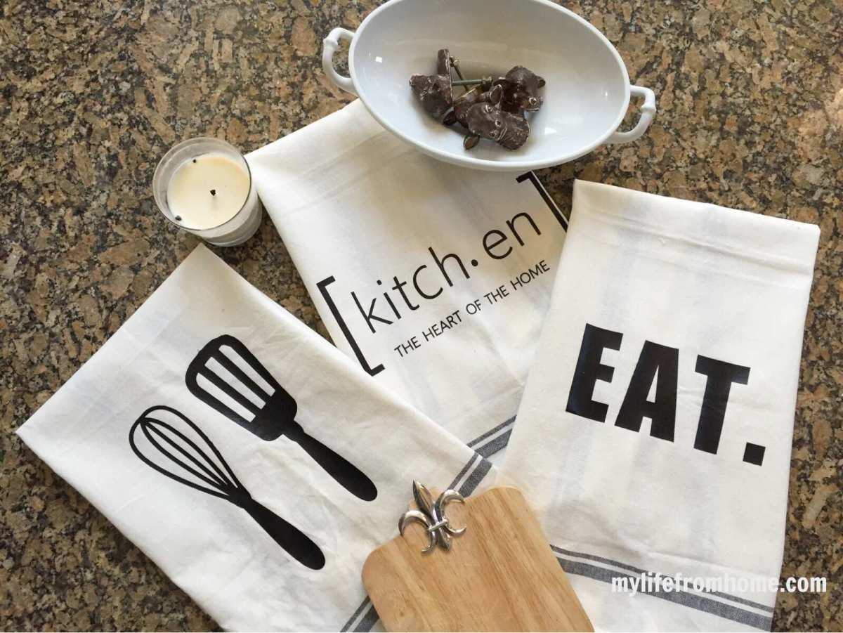 Craft Ideas-Silhouette Challenge: Kitchen Towels