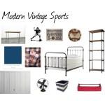 One Room Challenge {ORC}: Week #3 Modern Vintage Sports Bedroom