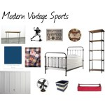 One Room Challenge {ORC}: Week #3 Modern Vintage Sports Bedroom