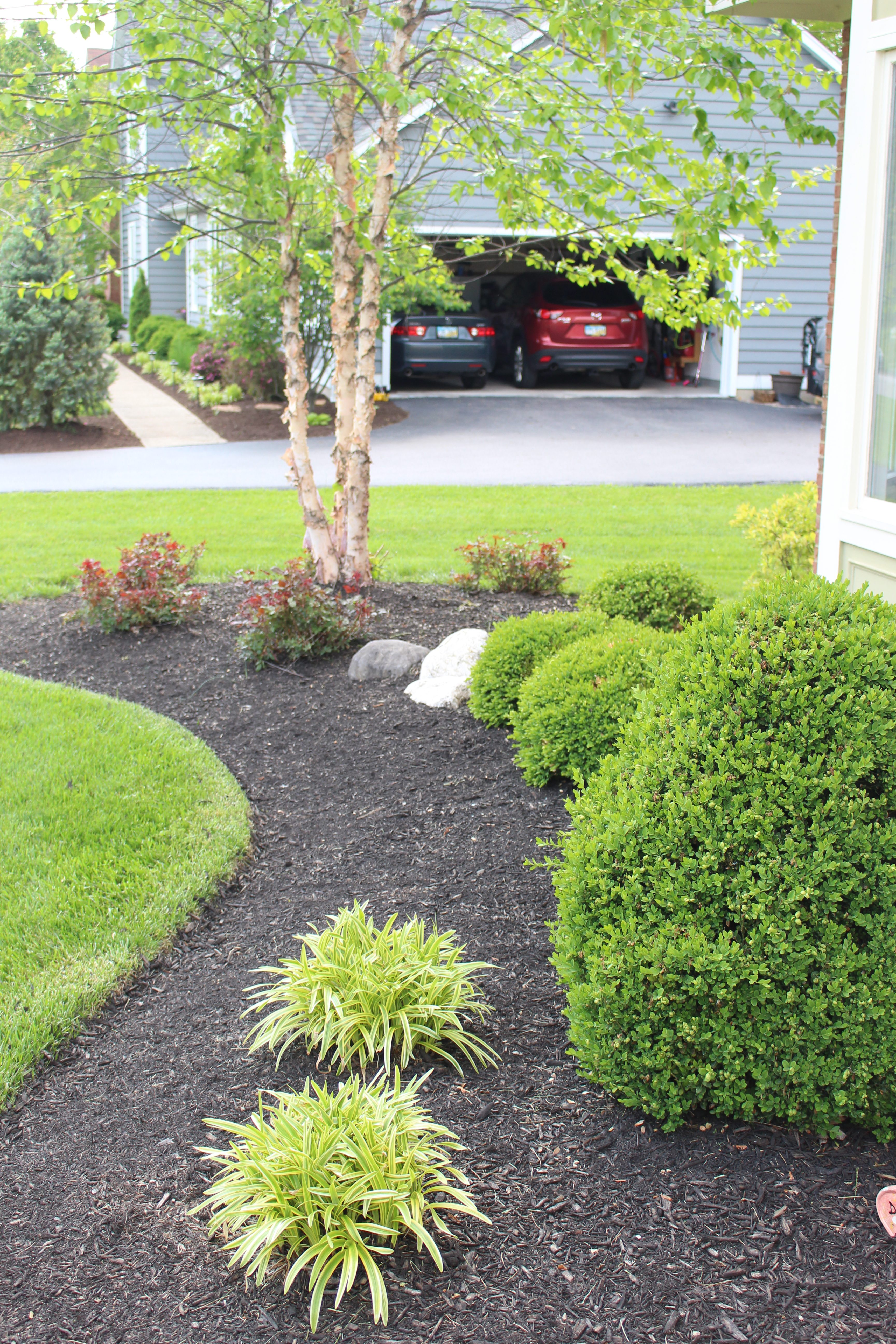Curb Appeal Challenge: Landscaping for Front of Our Home by www.whitecottagehomeandliving.com