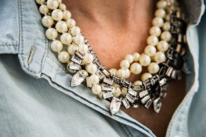 Statement Necklace as a focal point to an outfit