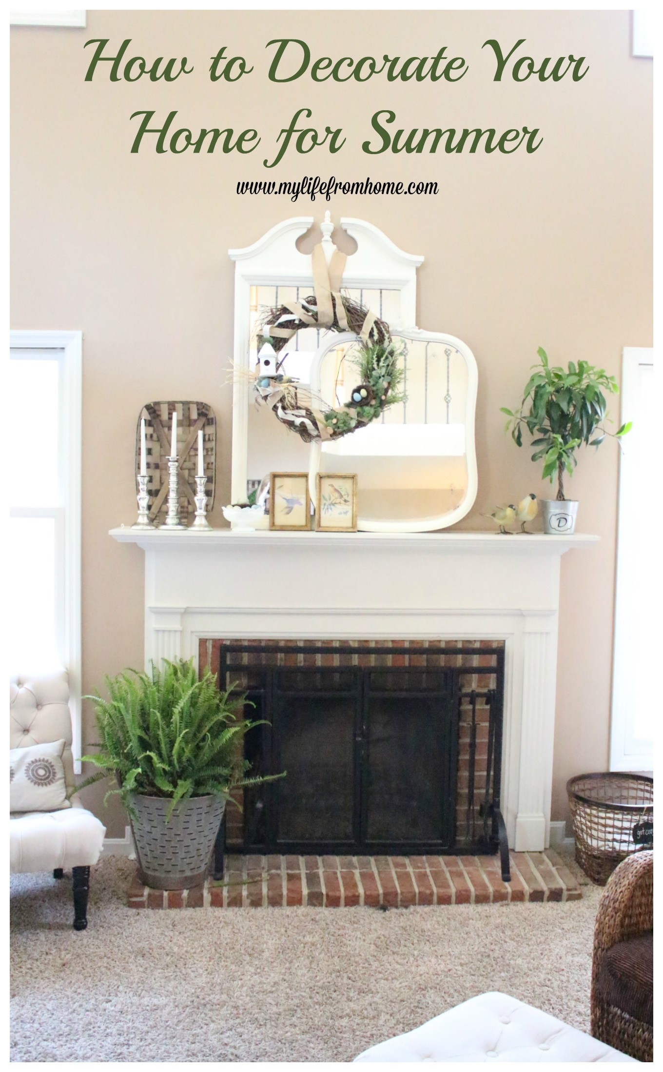 How to decorate your home for summer by www.mylifefromhome.com