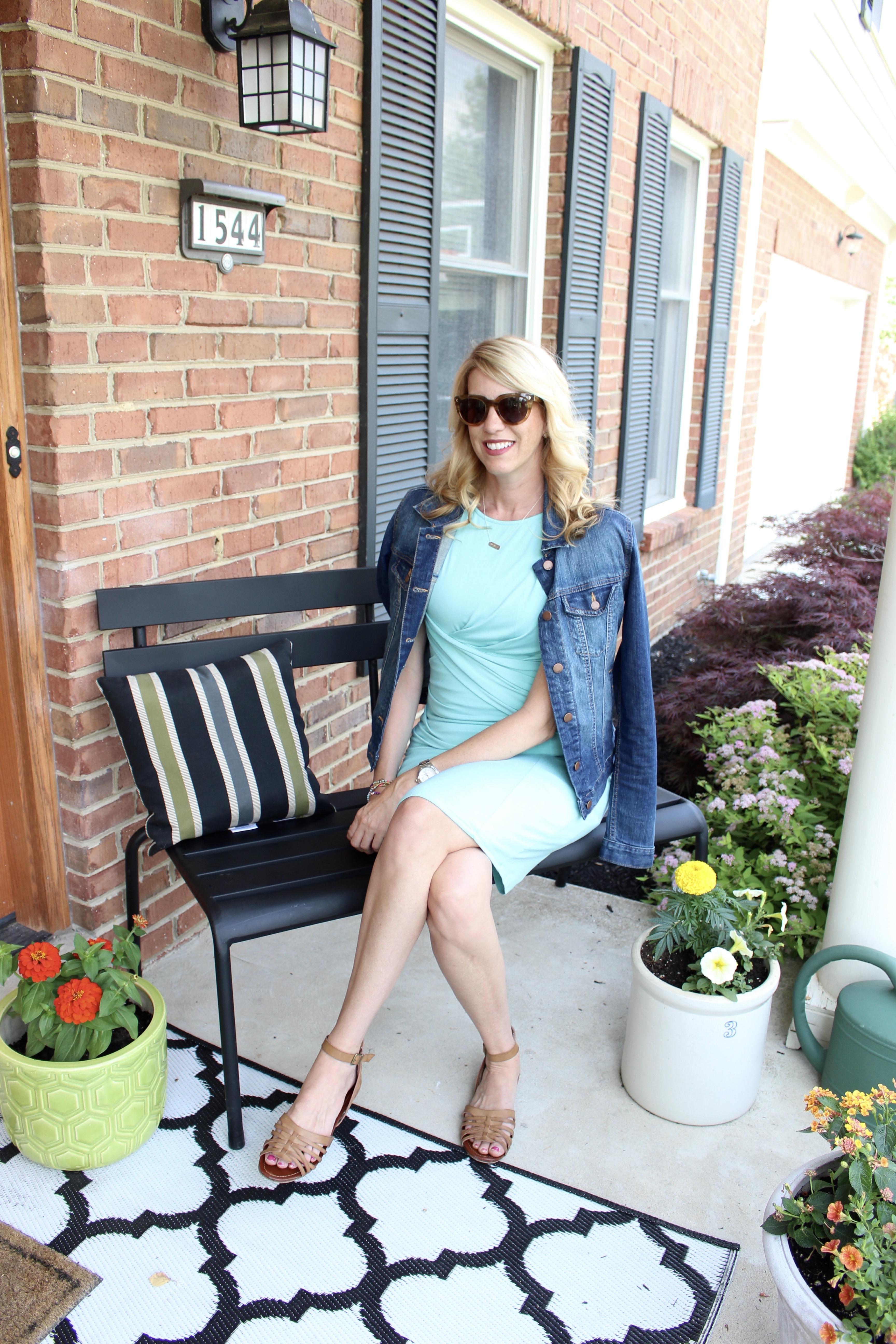 Stitch Fix Style | Transitioning a summer dress into fall | summer dresses | fall wardrobe | women's fashion | denim jacket |