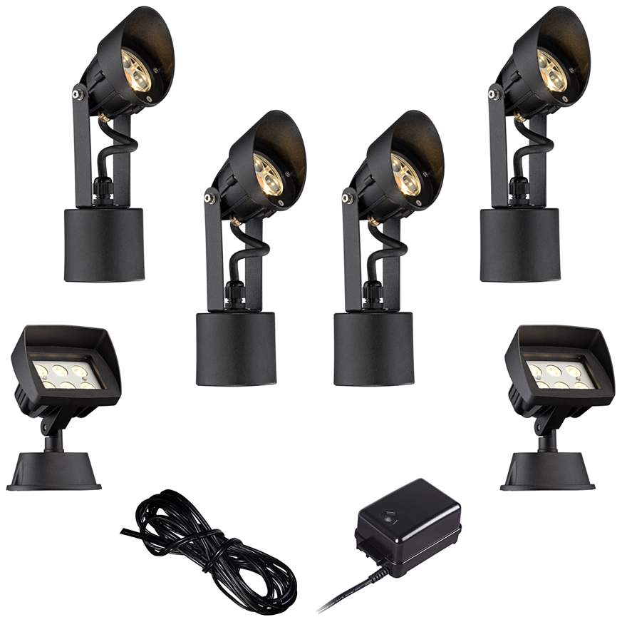 http://www.lampsplus.com/products/led-spot-and-flood-light-complete-landscape-kit-in-black__4w490-2w571-2w568-4w486.html