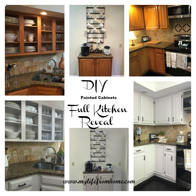 DIY Painted Cabinets Full Kitchen Reveal by www.mylifefromhome.com