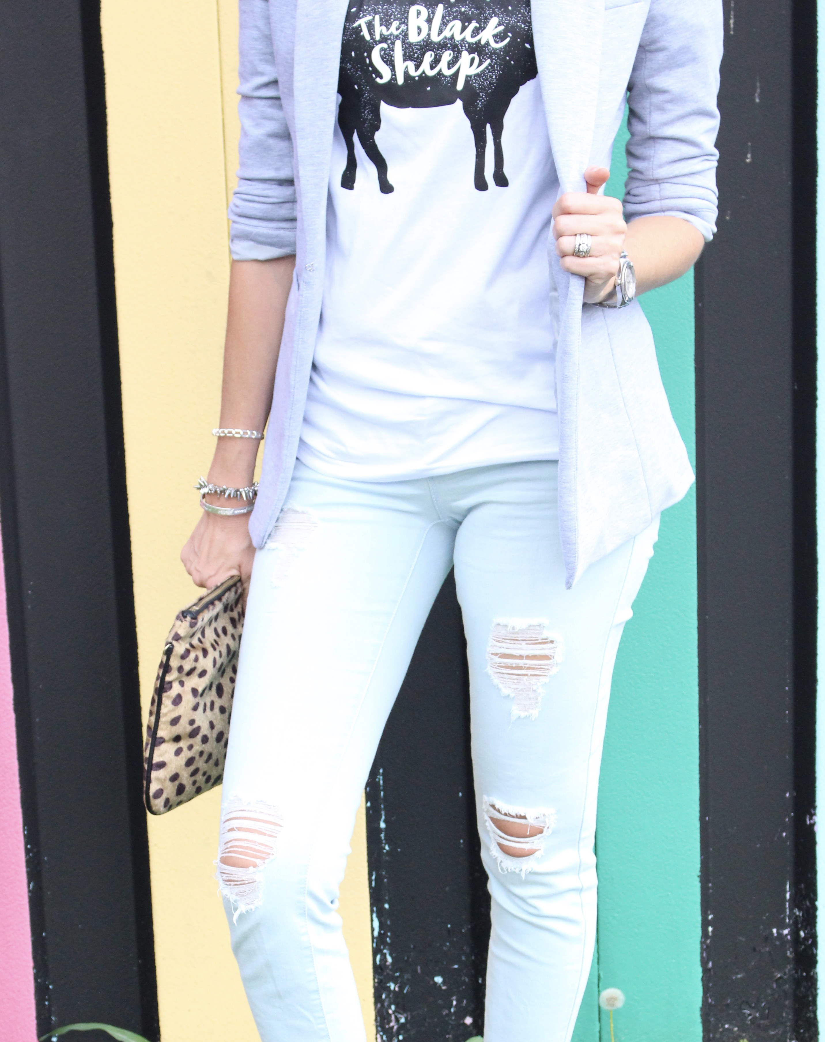 Graphic Tee and Distressed Denim Outfit by Glamour Farms   fall fashion   women's fashion   outfits   fall outfits   denim   styled denim