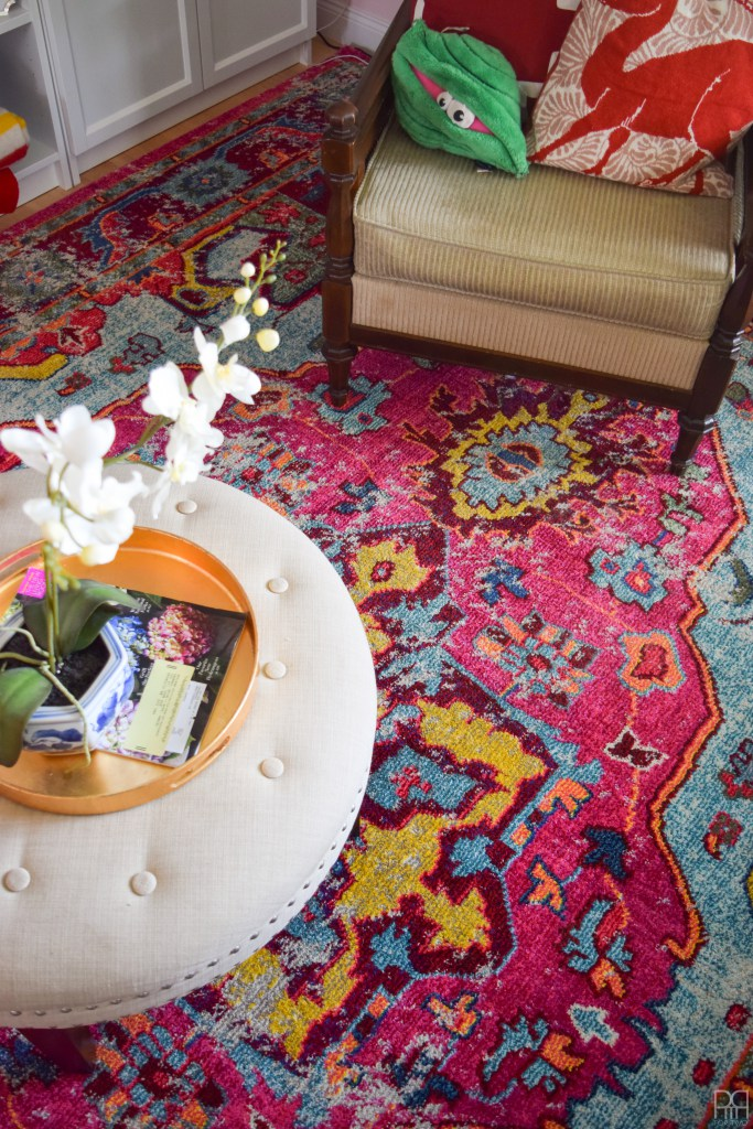 Focal Point Colorful rug from PMQ for two