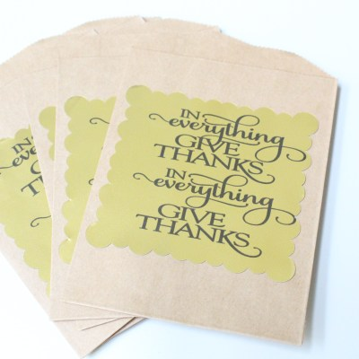 Silhouette Challenge: Thanksgiving Utensil Holders