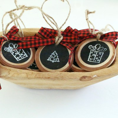How to Make a Wood Slice Gift Tag or Ornament