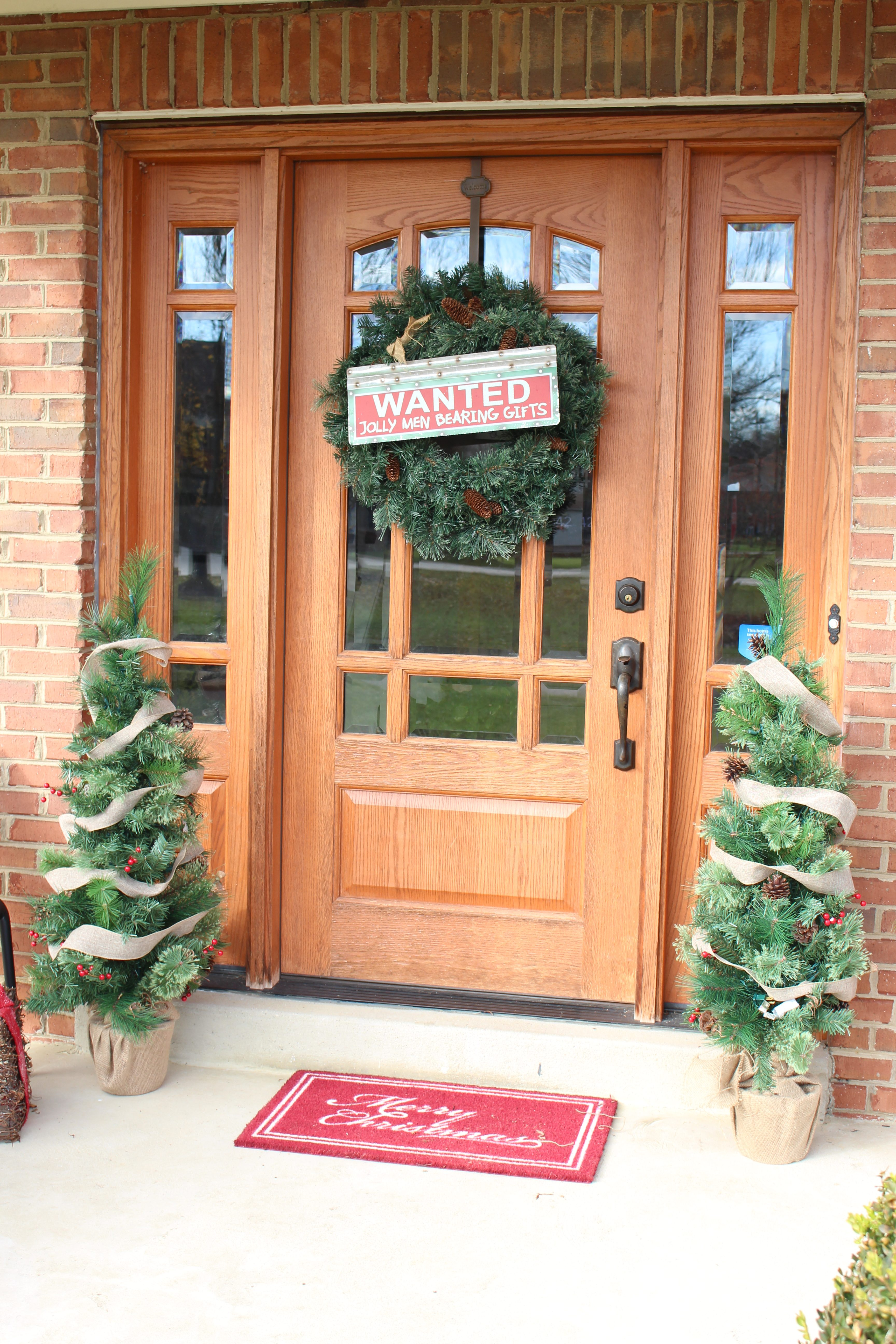 Christmas Front Porch with At Home- holiday decorating- porch decorated for the holidays- christmas porch- porch decorating- home decor- Christmas
