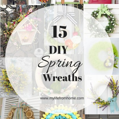DIY Spring Wreaths- spring decor- crafts for spring- DIY wreaths- spring wreaths- wreaths