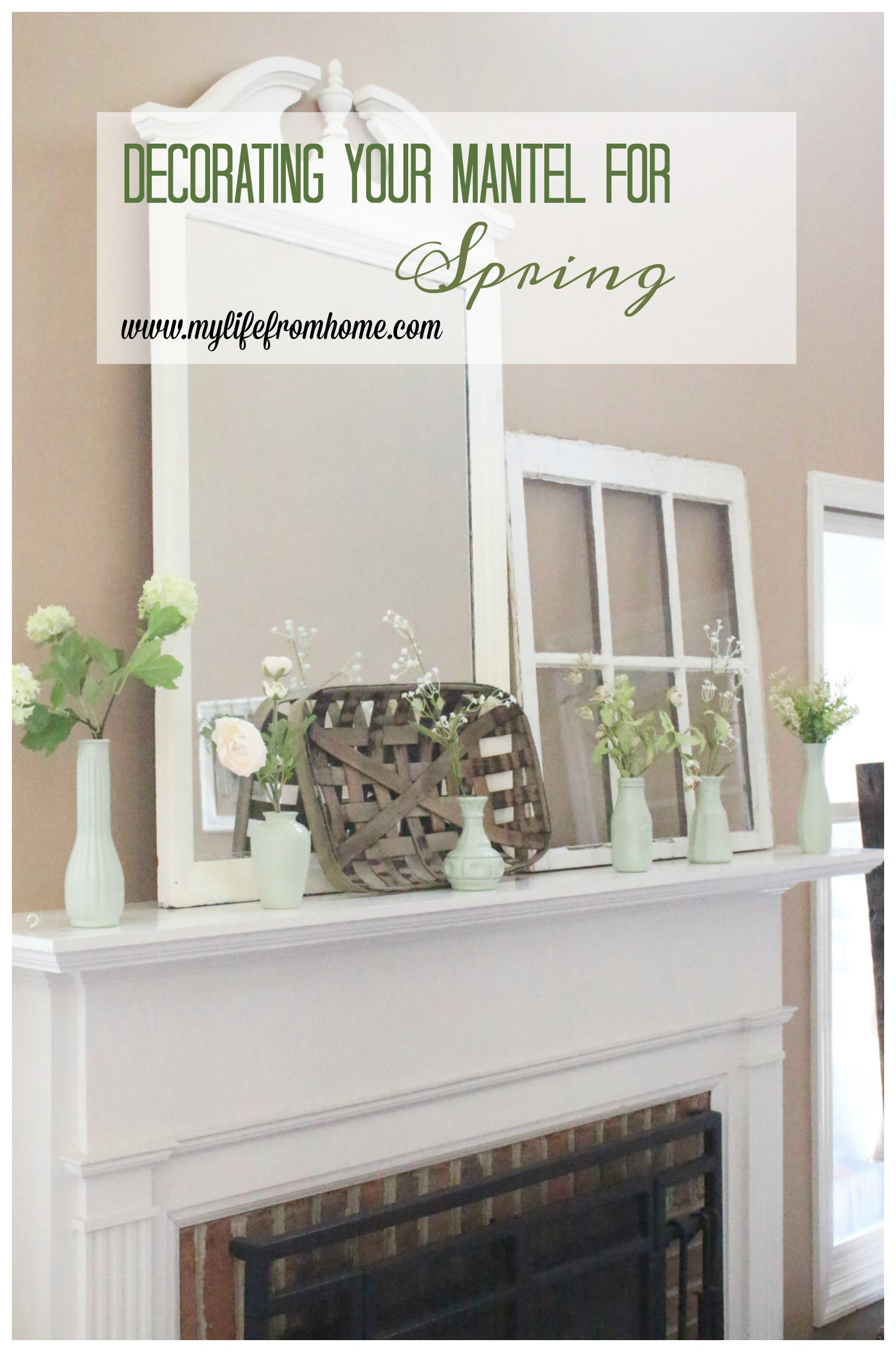 Decorate Your Mantel: Faux Milk Glass Mantel for Spring | My Life ...