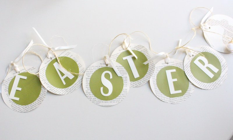 Create with Me: Book Page Easter Garland