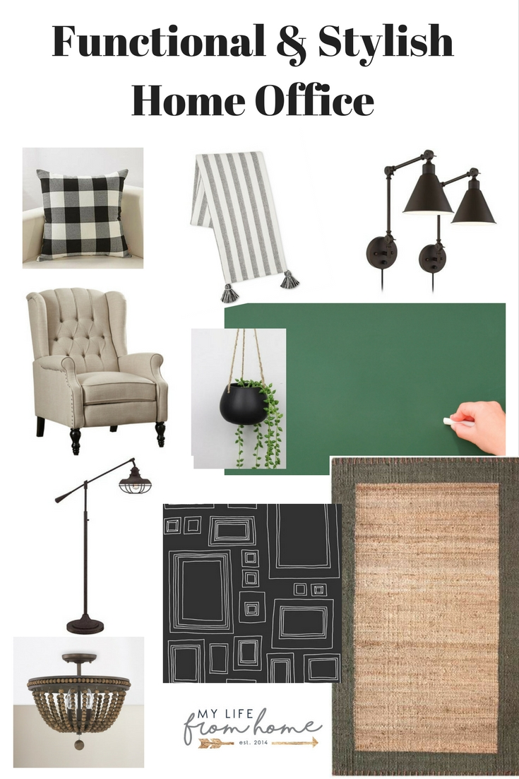 One Room Challenge {ORC} Week #4: Functional & Stylish Home Office