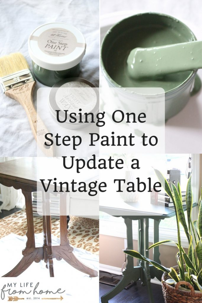 Using One Step Paint to Update a Vintage Table- green- paint- painted furniture- Amy Howard- vintage- DIY- Do it Yourself- home decor- room design- crafts
