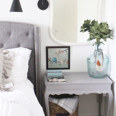 How to Update a Vintage Nightstand with Chalk Paint
