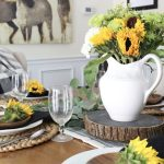 Sunflower Summer Tablescape Idea~ Back to the Basics Series