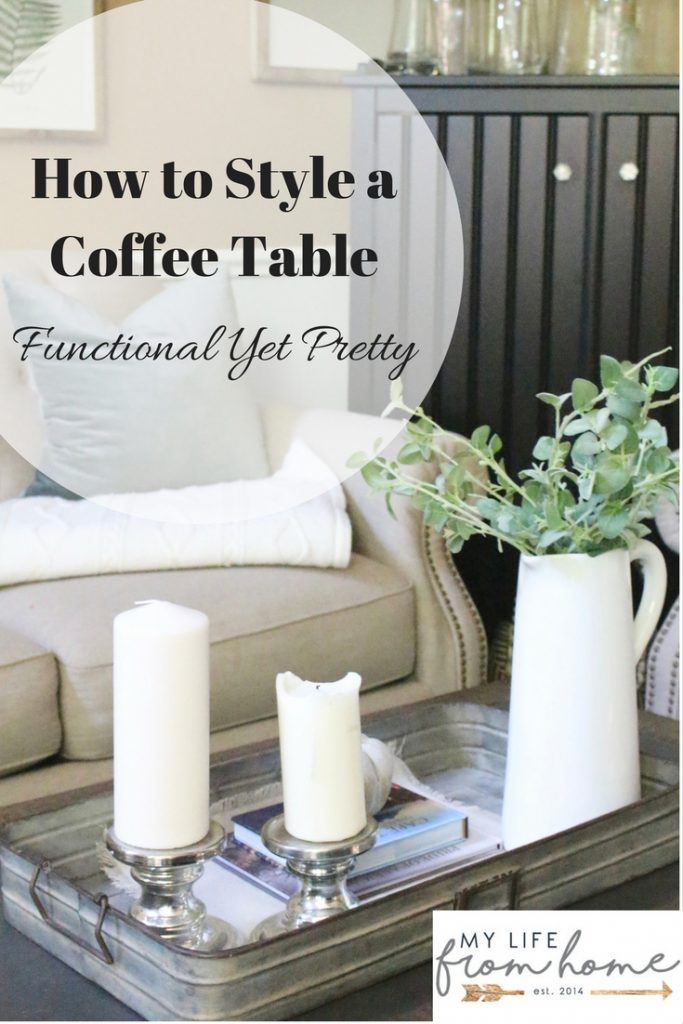 How to Style a Coffee Table- functional yet pretty- coffee table- styling- home decor- fall decor- seasonal- living rooms- home design- home decorating- fall- farmhouse style