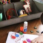 Christmas Craft Station Organized with Shipt
