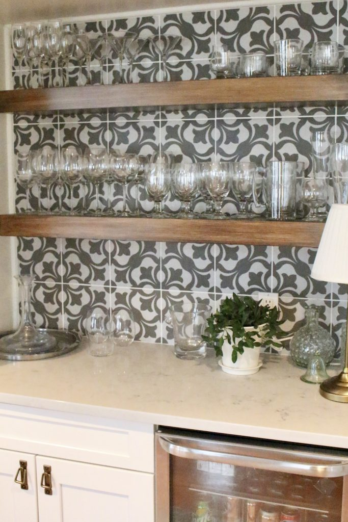 Cottage Kitchen Bar and Beverage Nook | My Life From Home