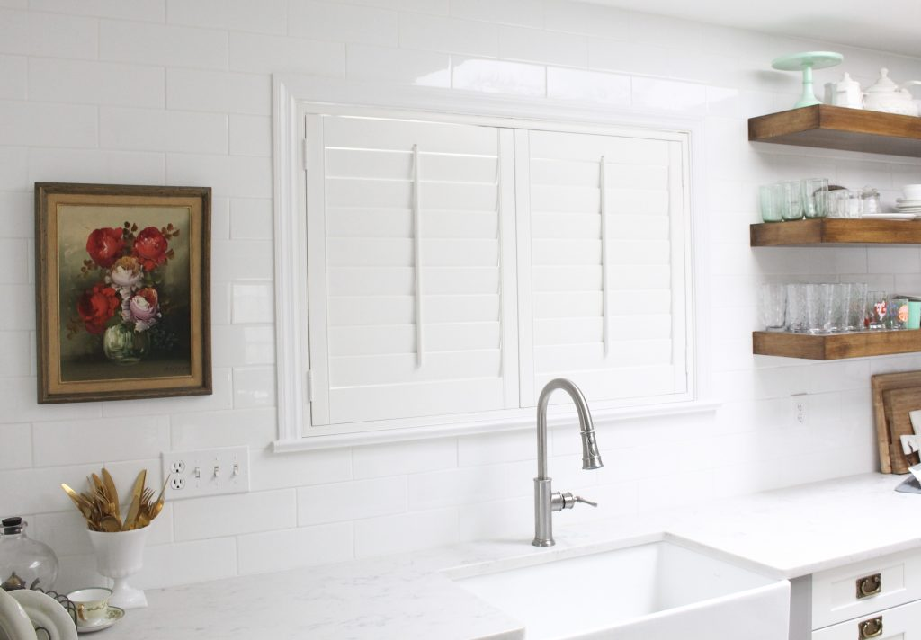 Custom Shutters for the White Cottage Kitchen | My Life From Home